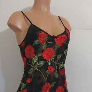 Fredrick's of Hollywood Floral chemise